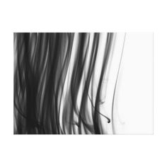 Black Fire III Premium Wrapped Canvas - black and white gifts unique special b&w style
