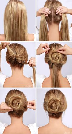 Twisted Bun Tutorial | #hair #bun #tutorial #diy #beauty #bridalhair #wedding #bride #prom