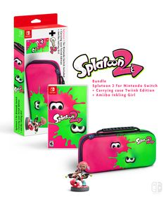 Splatoon 2 carrying case Edition , New Super Luigi Switch, Nintendo Joy-Con Collector Nintendo Switch (A Switch Me fan art). If U like it, follow me on Twitter : @switchmelike ! joycon, nintendo switch, dock, joy-con, Joy-Con Strap, amiibo