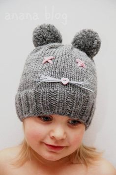 Cute hat Crochet Baby Clothes, Crochet Baby Hats, Knit Crochet, Wooly Hats, Knitted Hats, Knitting For Kids, Baby Knitting, Cute Hats, Cool Baby Stuff