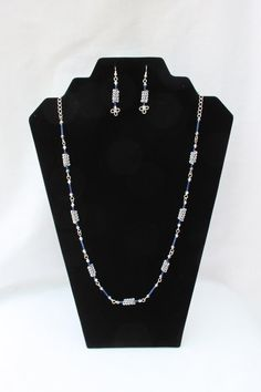 c8e404e8d13 A Lovely Sparkling Silver and Blue Necklace by sandsjewellerysales Present  For Girlfriend