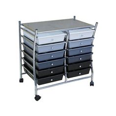 Drawer Mobile Organizer   H X  W X   D Blackgraywhite Ideal For The Kitchen Office Dorm Room Or Wherever Easy Assembly Instructions Are