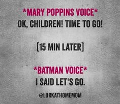 Mary Poppins to Batman in 2 children flat.