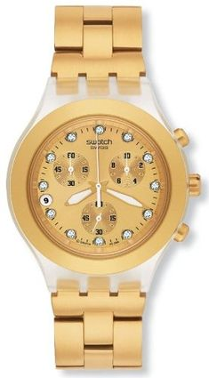 online shopping for Swatch Men's Stainless Steel Analog Watch Gold-Tone Dial from top store. See new offer for Swatch Men's Stainless Steel Analog Watch Gold-Tone Dial Best Watches For Men, Cool Watches, Wrist Watches, Women's Watches, Luxury Watches, Jewelry Watches, Daniel Wellington, Brand Name Watches, Casual Watches