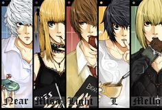 Death note-near misa light Lawlet and mello