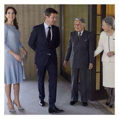 The Crown Prince & Crown Princess meeting Japan's Emperor & Empress. #denmark