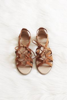 Tie up sandals available in whisky and gray