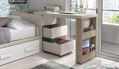 Youth bedroom desk Source by Small Room Design, Home Room Design, Kids Room Design, Home Interior Design, Space Saving Furniture, Home Furniture, Furniture Design, Furniture Outlet, Discount Furniture