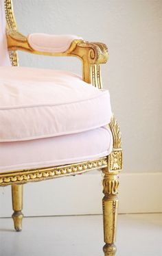 petal pink velvet...ok I must have this chair in my future office.  I am in love