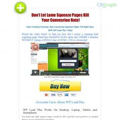 The Best Squeeze Page Creator Plugin For Wordpress. Earn More Than 75% Per Sale. Huge Demands, Great Reviews From Users. Visit Http://wpleadplus.com/jv.php For Affiliates' Materials See more! : http://get-now.natantoday.com/lp.php?target=wpleadplus