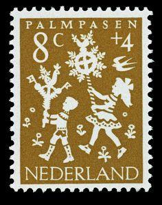 1961 | Hil Bottema | goudbruin | Palmpasen, kinderen