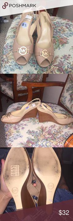 MICHAEL KORS HEELS WORN TWICE Worn TWICE  Size 8.5  Authentic Michael Kors Heel Tan Michael Kors Shoes Heels