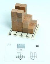 Opdrachtkaarten bij CUBO bouwblokjes. 5 sets met verschillende moeilijkheidsgraad.