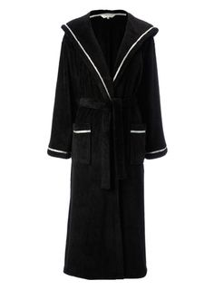 BHS Black Spot Trim Hooded Robe £25 Item code: 755208513