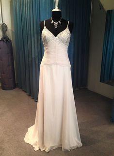 Designer Wedding Dress Champagne Size 12