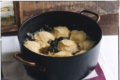 "Simmered Greens with Cornmeal Dumplings | by Edna Lewis in Gourmet Jan 2008 on Epicurious from ""The Real History of Soul Food: Where It Comes from and How It Got Its Name"""