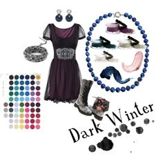 The Dark Winter Cool Neutral Pallet, created by eleablakecosmetics on Polyvore via Stacie's brain