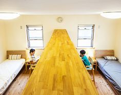 Bunk Bed Rooms, Boy Girl Room, Hotel Room Design, Relaxation Room, Bedroom Layouts, Small Space Living, Kids House, House Rooms, Kids Bedroom