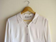 White Chiffon Shirt size sm by sufragista on Etsy, $27.00