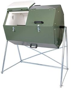 Jora 70 Gallon 270 Compost Tumbler Jora Insulated composter with dual compartments Composts kitchen waste hygienically and quickly Galvanized sheet metal for years of rust-proof use 70 gallon, cubic foot capacity How To Make Compost, Making Compost, Compost Tumbler, Garden Compost, Gardening, Garden Soil, Herb Garden, Garden Art, Garden Ideas