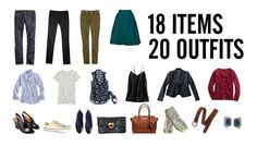 Pack 20 Outfits in One Carry-On via @stylebookapp #fashionapp #closet #organization #travel #traveltips #packing #carryon