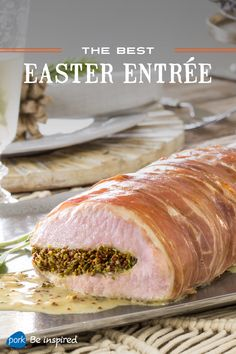 This recipe – from Haylie Duff – is just what you need to change up the traditional Easter centerpiece. The subtle but enticing flavors from tender pork roasted with fresh herbs, mustard and prosciutto will wow your guests.