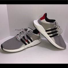 timeless design 45a5d 15c00 adidas Shoes   Adidas Eqt Support 93-17   Color  Gray White   Size  10