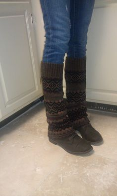 How to make boot cuffs from a re purposed sweater youtube leg warmersboot socks from old sweaters leg warmers diy solutioingenieria Images