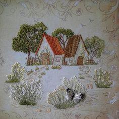 stumpwork, satin stitch