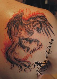 Fenix - tatuaż...:) #tattoo# #tatuaż# #fenix#