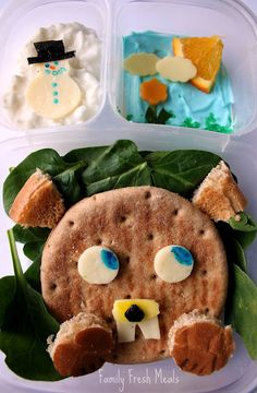 Bento Love: Groundhog Day - will this little guy see his shadow?