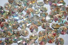 Cabochon Tondo Cristallo Crystal AB 12mm - 4pz