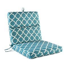 patterned teal nile outdoor chair cushion at big lots - Big Lots Patio Cushions