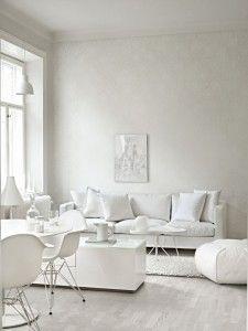 7 preuves qu'un intérieur blanc peut être spectaculaire #parquet #salon