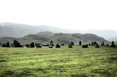 Pagan Castlerigg Stone Circle Lake District stock photo