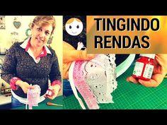 COMO TINGIR RENDA COM TINTA DE TECIDO | DRICA TV | SEGUNDAS E QUINTAS - YouTube