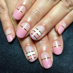 Contrast Of Pink With White  #nails #nailart