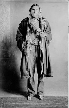 Devote (Kiowa) in Native American Church clothes, 1900? – 1930? by Marquette University Archives, via Flickr