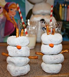 Disney FROZEN Party Ideas including Olaf donuts and snowflake craft. #Cbias #Shop #FrozenFun