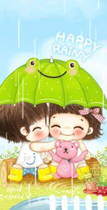 Cute Love Cartoons, Cute Cartoon, Cute Wallpaper Backgrounds, Cute Wallpapers, True Friendship Quotes, Korean Anime, Cute Love Gif, Cartoon Gifs, Gif Pictures