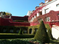 Aria Hotel from baroque Vrtba Garden Baroque, Mansions, House Styles, Garden, Beautiful, Courtyards, Gardens, Mansion Houses, Manor Houses