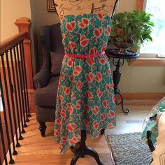 Strapless, Flirty, A-Lined Summer Dress