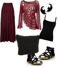 """Hippie Crochet"" by brondolo on Polyvore"