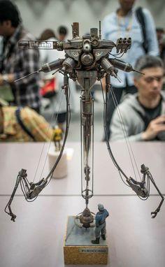 ( *`ω´) ιf you dᎾℕ't lιkє Ꮗhat you sєє❤, plєᎯsє bє kιnd Ꭿℕd just movє ᎯlᎾng. Arte Peculiar, Steampunk, Apocalypse Art, Arte Robot, Sculpture Metal, Sci Fi Models, Robot Design, Mechanical Design, Dog Hoodie