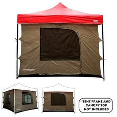 Free Shipping. Buy Camping Tent attaches to any 10'x10' Easy Up Pop Up Canopy Tent  with 4 Walls, Mesh Ceiling, PVC Floor, 2 Doors and 4 W at Walmart.com