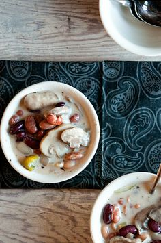Creamy Mushroom and 3 Bean Soup