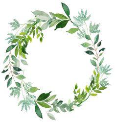 Картинки (разное) - 2 in 2019 Wreath Watercolor, Watercolor Flowers, Watercolor Art, Greenery Wreath, Floral Wreath, Vegetal Concept, Wreath Drawing, Motif Floral, Flower Frame