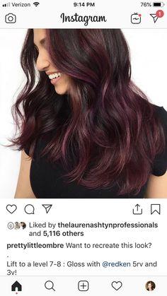 Fall Hair Colors, Brown Hair Colors, Cool Hair Color, Redken Color Formulas, Hair Color Formulas, Good Hair Day, Love Hair, Redken Hair Color, Red Violet Hair
