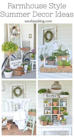 The modern farm house style is not only for rooms. The farmhouse design totally reflects the entire style of the home and the family tradition also. This totally reflects the entire style… Farmhouse Garden, Modern Farmhouse Decor, Farmhouse Style Decorating, Vintage Farmhouse, Farmhouse Design, Porch Decorating, Country Farmhouse, Farmhouse Table, Decorating Ideas