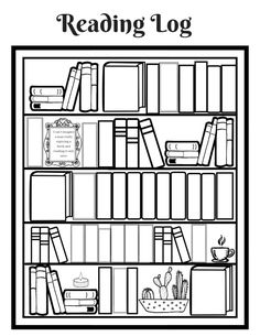 I love seeing the fillable bookshelf style reading logs so I attempted to make one myself! So I am putting it here for anyone who would like to try and print it off for thems… Bullet Journal Books, Book Journal, Printable Planner, Planner Stickers, Free Printable, Printables, Goals Printable, Reading Log Printable, Reading Tracker